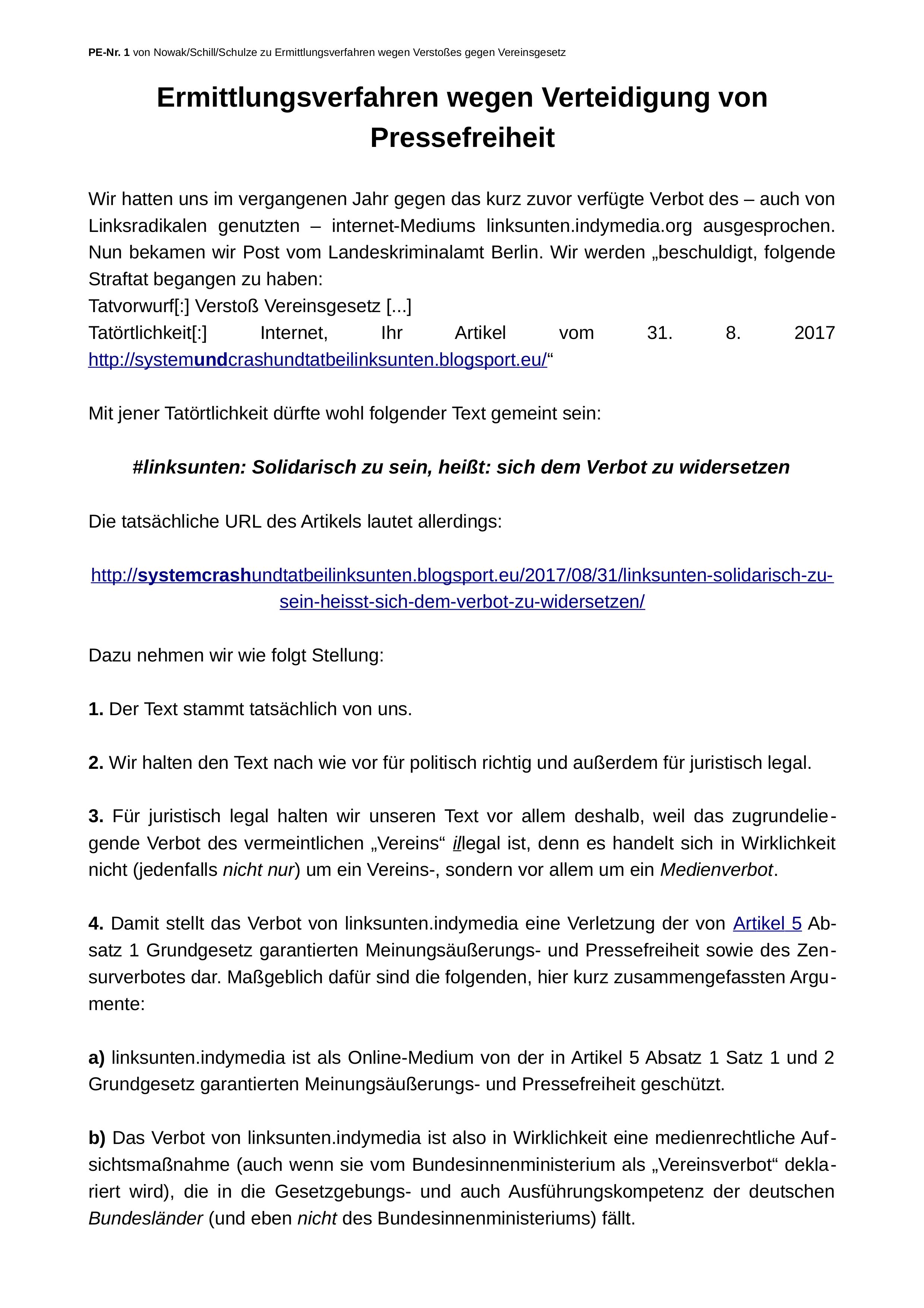 PE Nr. 1 vom 24.09.2018, S. 1
