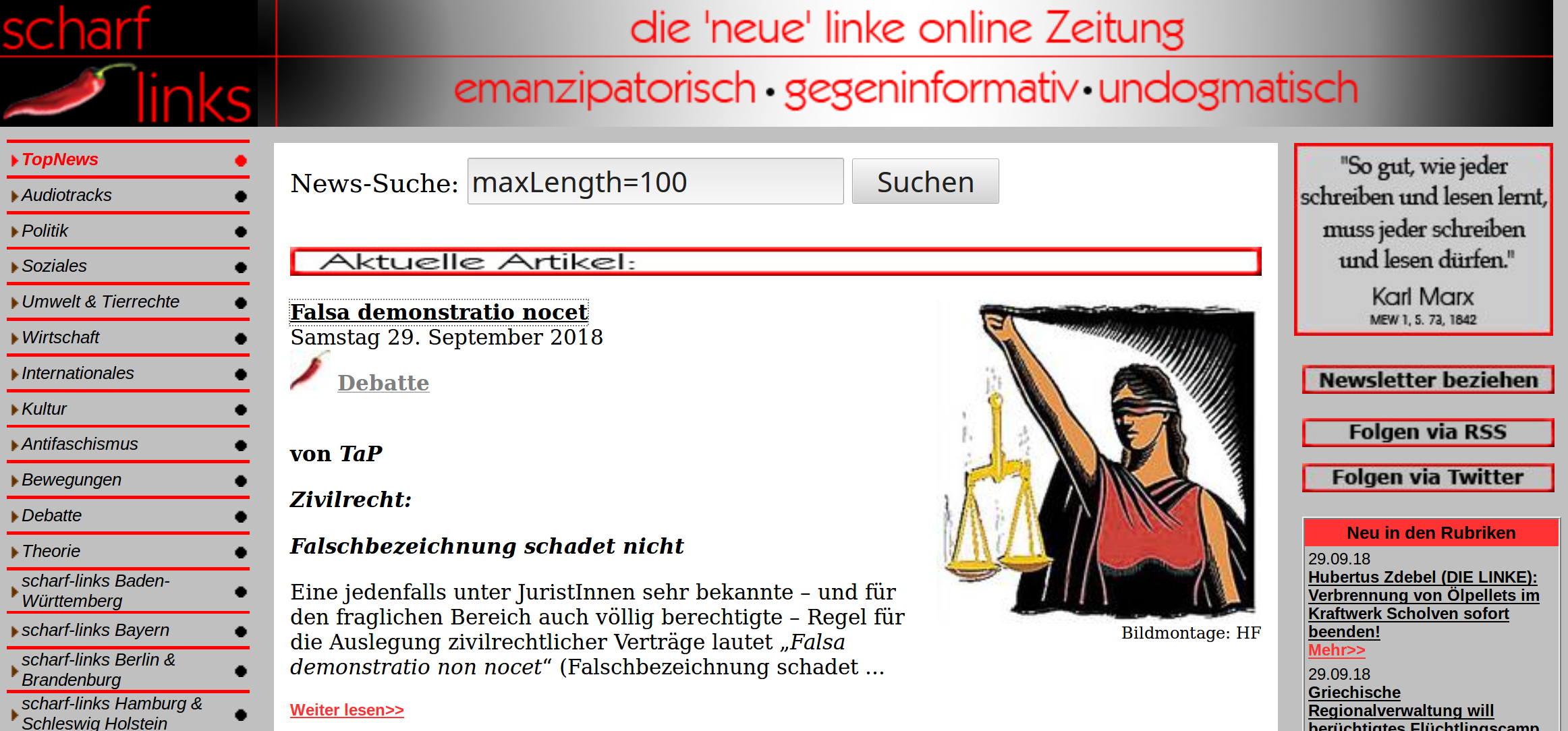 Falsa demonstratio nocet (von Tap - bei scharf-links v. 29.09.2018)