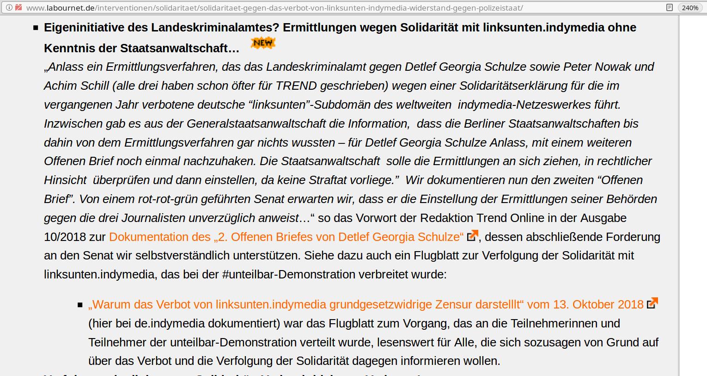 Eigeninitiative des Landeskriminalamtes? (labournet.de v. 17.10.2018)