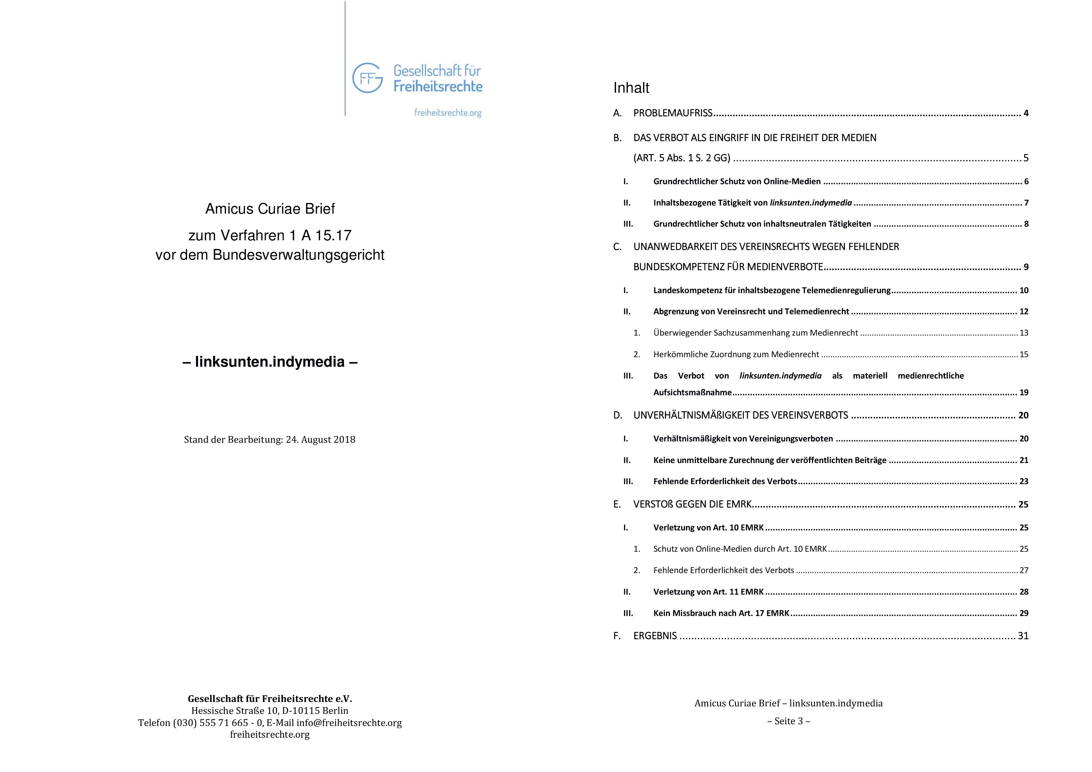 S. 1 und 4 der GFF-Stellungnahme zum linksunten-Verbot